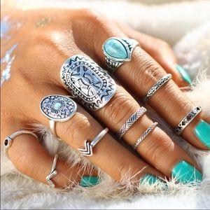 Jewelry - NEW!! Beautiful And Bold Set of Boho Rings